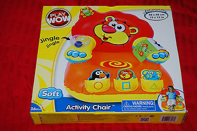 PlayWow Soft Inflatable Activity Chair Play Wow - Rare US Import BNIB - 36m+