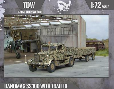 Hanomag SS 100 with trailer [TDW] [Resin-1/72]