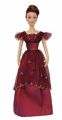 """Boneka OOAK Rosemarie Ionker Red Ball gown for 16"""" fashion doll"""