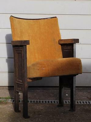 ​A Vintage C1930s Single Cinema Seat with Aisle Ends & Provenance