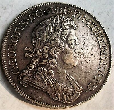 Silver Crown  King George I  Dated 1720 Over 18   (  Ex  D.j. Traynor 1970's )