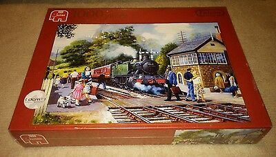 JUMBO Departure Time 1000 Piece Puzzle Red Box RARE - Brand New & Sealed