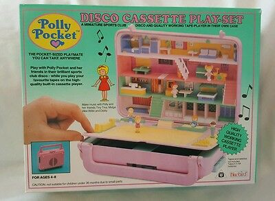 New Vintage polly pocket Disco Cassette Play-Set
