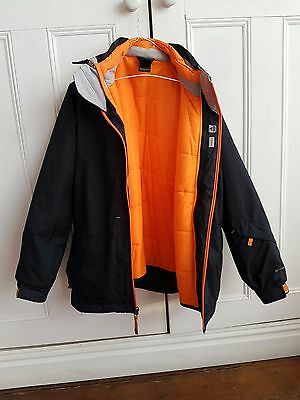 Boys North face 3in1 Hyvent Shell Coat With quilted removable jkt Uk L 14/16