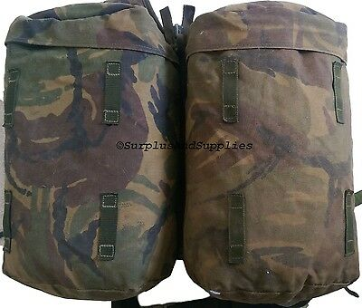 BRITISH ARMY ISSUE SIDE POUCHES & YOKE, PLCE pack, bergen, backpack, bag, faded