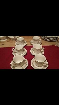 johnson brothers eternal beau tea cups and saucers set of 6