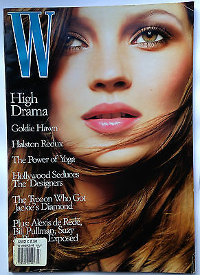 July 1996  W Fashion Magazine; rare Kate Moss issue