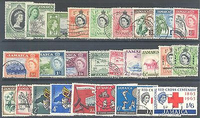 JAMAICA 1953/70 QEII & Independence Large Used Selection (54)
