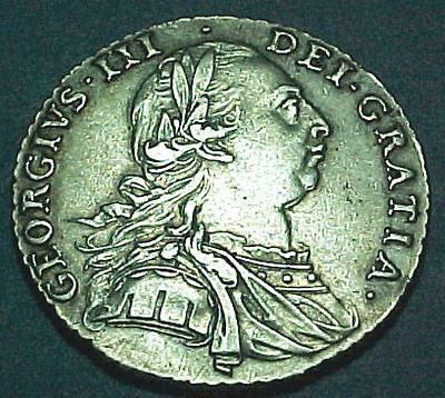 Great Britain UK - Shilling - 1787 - Nice Better Grade Silver Coin
