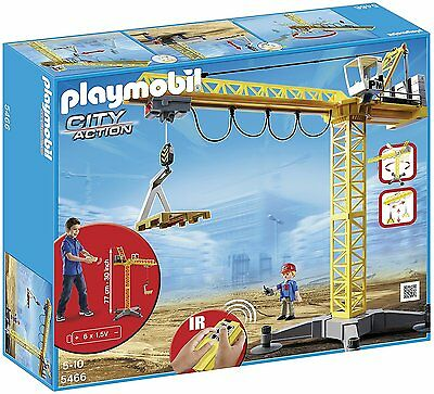 Playmobil 5466 City Action Large Construction Crane with Infra-Red Remote
