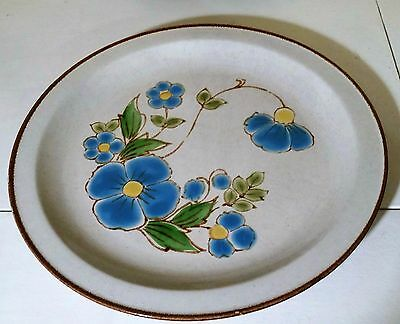 "International Stoneybrook Blue Dawn 12"" Chop Plate Round Platter, Stoneware 7174"