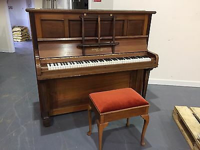 Collard & Collard Upright Piano with Stool