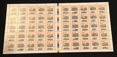 Not Folded Full Sheet of 50 MNH 1990 Colonial Collection - Boomtime 41c Stamps