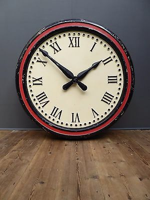 Huge Reclaimed Architectural Station Warehouse Factory Clock Vintage Industrial