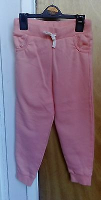 Girls Orange Track bottoms - 5-6yrs NEW