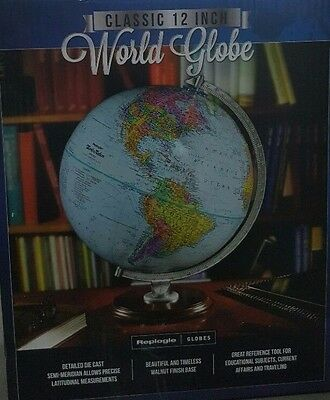 Replogle World Globe Classic 12 Inch / 30.5 cm Up-to-Date Accuracy Morden Blue1