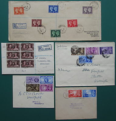 5 x FDC First Day Cover GB Stamps Geo Vl Registered Cat £250 Minimum