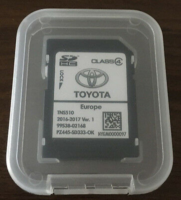 TOYOTA TNS510 - SD card with LATEST EUROPE MAP (ALL country) - 2016-2017 Ver.1