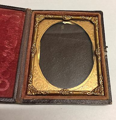 Victorian Antique Travel Picture Frame And Compact Case Vintage Photography