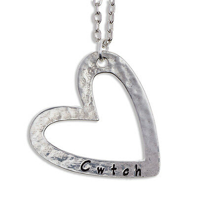 Cwtch Pendant in Cornish Pewter by St Justin PN892