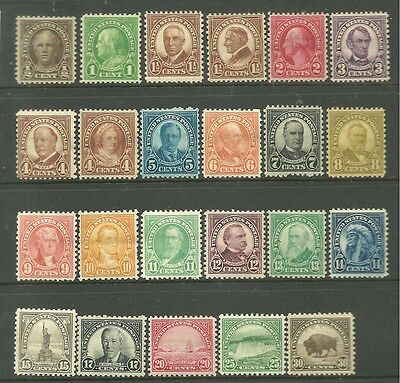 United States 1922 Mint Stamps CV £110