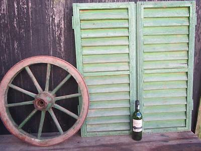 Vintage Wooden French Shutters Free Post Shabby Window Free Post Too