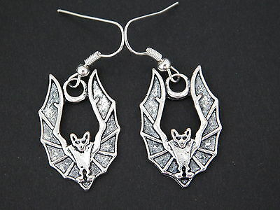 Bat Earrings   – Wicca - Pagan - Goth