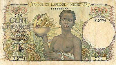 French West Africa 100 Francs 1948 P40