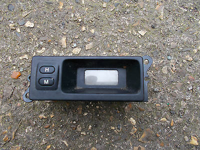 Land Rover, Mg And Rover Models Dashboard Black Fascia Lucas Lcd Clock Display