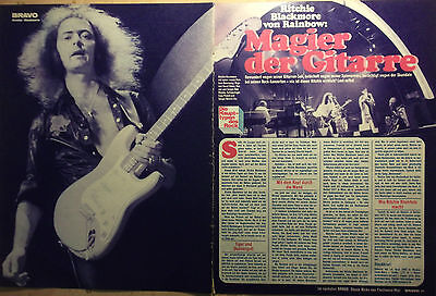 2 german clipping RITCHIE BLACKMORE DEEP PURPLE LIVE N. SHIRTLESS BOY BOYS