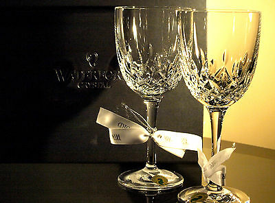 Waterford Crystal Lismore Encore White Wine Glass Set of 2, Brand New