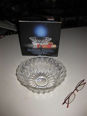 """Sparkling Crystal 6 1/4"""" Candy Dish"""