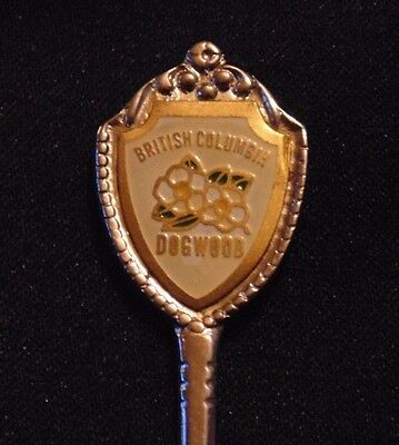 VINTAGE COLLECTOR'S SPOON - British Columbia Dogwood Provincial Flower #012
