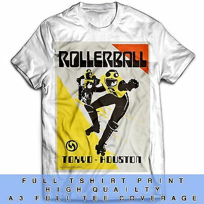 Houston Rollerball Inspired Team Tokyo 70s Sci Fi Film Tumblr Movie T Shirt