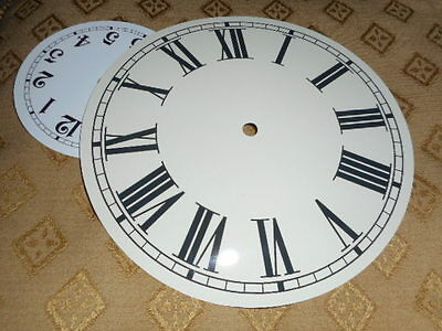 "Round Paper Clock Dial- 8"" M/T -Roman - High Gloss Cream -Face/Clock Parts"