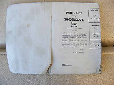 Parts List For Honda Cb250K3 Cb350K3 Cl350K3