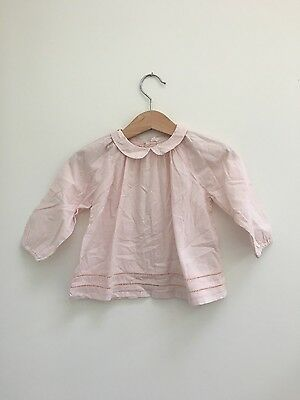 bout'chou pale pink blouse - size 12 months