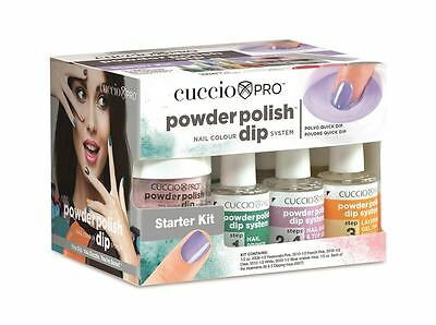 Cuccio Pro New Powder Polish Acrylic Nail Colour Dipping System Starter Kit