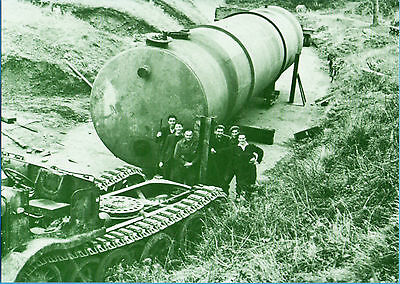 Guernsey-Removal of 22,500g German fuel tank 1947(Reprint P'card Guernsey Press)