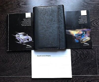 Jaguar S Type Owners Handbook/Manual and Wallet 04-07 TOUCH SCREEN BOOK