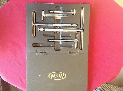 Boxed Set of Vintage Moore & Wright Telescopic Gauges in Very Good Condition