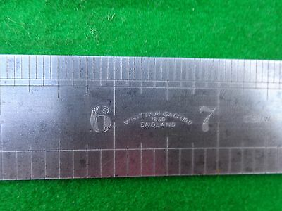 "Steel Ruler WHITTAM  SALFORD  No C511/W  VINTAGE  12""  FINEST SPRING STEEL"
