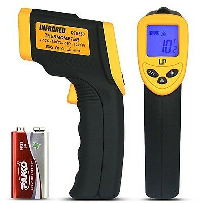 LP Digital Infrared Thermometer , Non-contact Temperature Gun with LCD Laser