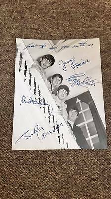 The Beatles fan club signed photograph