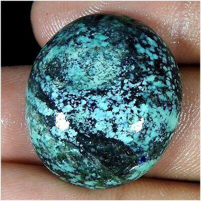 31.55Cts. 100% NATURAL UNTREATED TIBET TURQUOISE OVAL CABOCHON LOOSE GEMSTONES