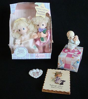 Precious Moments Collection, Numbered Dolls, Figurine, Plaque, Heart, w/ boxes