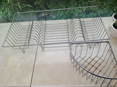 Wire dish drainer rack & caddy