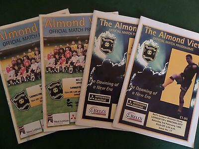 Collection of 4 Livingston Home programmes all listed, 1996 & 1997