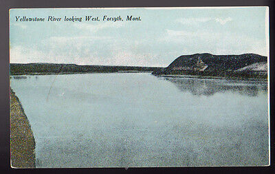 FORSYTH MONTANA MT Yellowstone River Looking West Postcard PC