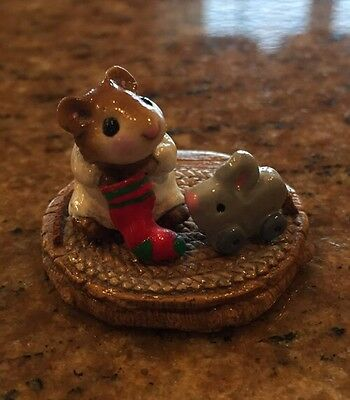 Wee Forest Folk WFF Christmas FIRST CHRISTMAS MOUSE Retired M-93 Figurine